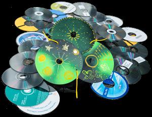 alte CDs werden zu Lichtfängern